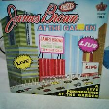 JAMES BROWN AND FAMOUS FLAME LIVE AT THE GARDEN LP'67 vinyl CND press KING COVER