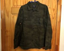 Abercrombie & Fitch Men's Military Shirt Jacket Green Camo Size L New $78