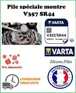Lot Of 2 Button Batteries V357 SR44 SR44W VARTA Special Watch Silver Oxide