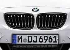 BMW GENUINE M PERFORMANCE 2 SERIES BLACK KIDNEY GRILLES 51712336815 / 816