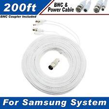 WHITE PREMIUM 200FT HD BNC CABLES FOR SAMSUNG SDH-B74081, SDH-C74041, SDC-9443BC
