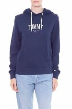 TOMMY JEANS - Women's blue hoodie with logo print