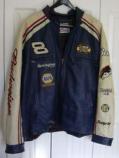 Dale Earnhardt Jr 2XL XXL Wilson Leather Jacket NASCAR 8 Racing Nextel Budweiser
