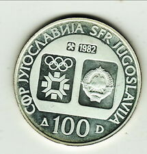 YOUGOSLAVIE JEUX OLYMPIQUE SARAJEVO 100 1982 SILVER UNC