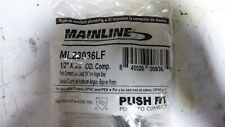 """2 Mainline ML23036LF Push Connect Brass 1/4 Turn Angle Stop Valves 1/2"""" x 3/8"""""""