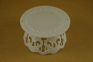 """Plastic Cake Top WHITE Base stand Rose design 4.5"""" x 2.25"""" Choose Package Amount"""