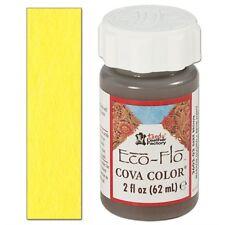 Yellow Tandy Cova Leather Paint - Eco-flo Color 2 Oz Colour Leathercraft 2602-07
