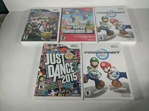 Lot of 5 Wii Games Not Working. Mario Kart Wii Super Smash Bros Brawl + more