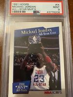 1991-92 Hoops All-Star MVP's Michael Jordan# 9 PSA 9 Mint Rare!🔥🔥