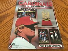 1983 St. Louis Cardinal Official Score Book (1982 World Champs)