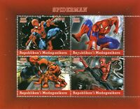 Madagascar 2018 CTO Spiderman 4v M/S Marvel Comics Superheroes Stamps