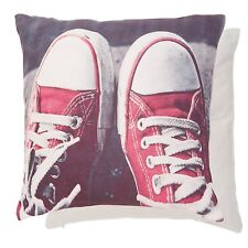 NEW Clayre & EEF Red Chocks Pillowcase Pillow Cover Shabby Chic Trainers