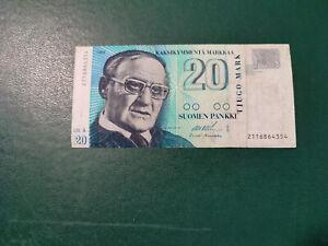 Finland Banknotes 20 Markkaa 1993  !!!!!
