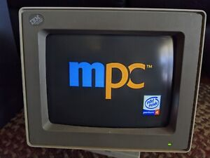 "Good condition IBM 8513-001 12.3"" CRT monitor"