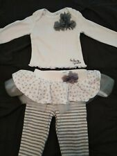 Baby Guess Two Piece Tutu Flowered Outfit Size 6-9 Mo