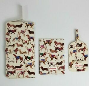 Cath Kidston Passport Holder / Luggage Tag /Travel Wallet Sketchbook Dog Design