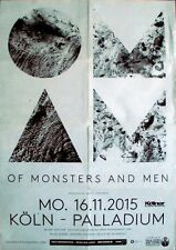 OF MONSTERS AND MEN - 2015 - Konzertplakat - Concert - Tourposter - Köln
