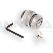 Trailer Hitch Lock 50Mm Tow Bar Security Anti Theft Clamp Silverline 2 Keys DIY