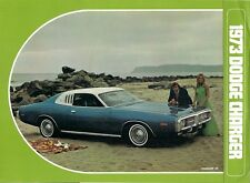 DODGE CHARGER 1973 USA MARKET FOLDOUT SALES BROCHURE COUPE Hardtop RALLYE se