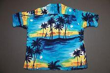 L * vtg 80s rayon ISLANDER hawaiian shirt * 49.114 all over print