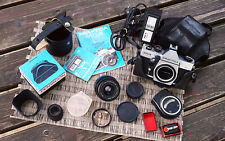 Carl Zeiss Jena DDR MC FLEKTOGON 2,4/35mm M42 Lens w. Accessories & Papers Works