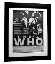 THE WHO+1981 Tour+POSTER+AD+RARE ORIGINAL 1980+FRAMED+EXPRESS GLOBAL SHIP