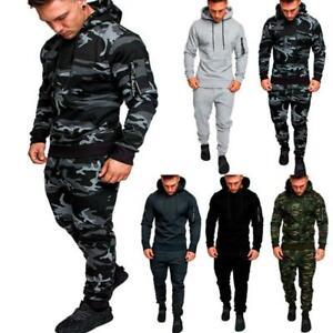 Men's Tracksuit Jogger Fitness Workout Hoodies Bottoms Pants Trousers Sport Suit