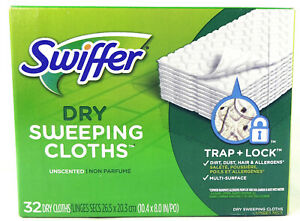 Swiffer Dry Sweeping Cloth Pads Refills, Unscented (32 Count)