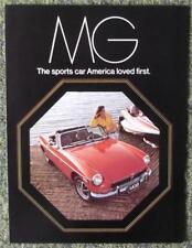 MG CAR RANGE SALES BROCHURE NOVEMBER 1972 (USA PRINT) REF- 11/72