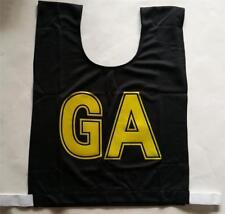 Netball Bibs - Brand New - Mock Mesh - Senior Size - Black/Yellow Letters