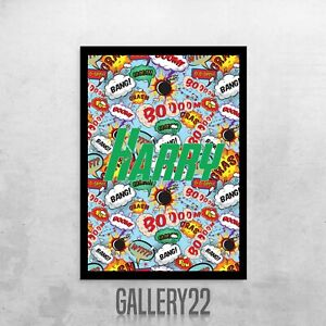 Personalised Comic Book Print For Home Decor Wall Art Children Bedroom
