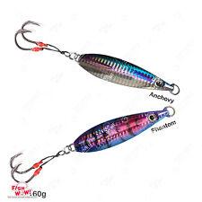 5pcs 120g Fishing Flat Fish Jig 4.2oz Speed Vertical Metal Lure jig Random color