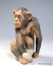 "Lladro ""Painful Monkey"" #5018 - Monkey On Crutches W/ Bandaged Foot_$575 V_*Mint"