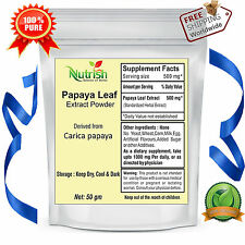 Papaya Leaf 10:1 Extract Powder 200 gm, Promote weight loss & Brest Inhance