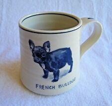 Anthropologie Icon French Bulldog Stoneware Mug by Molly Hatch- NWOT