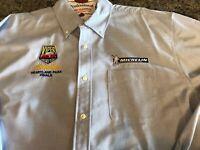 Devon & Jones Blue Long Sleeve Button Down Shirt VIPER DAYS HEARTLAND PARK XL