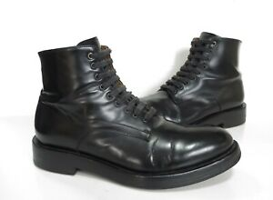 Mens Paul Smith Black Leather Lace-up Ankle BOOTS Size UK 7 Good Cond