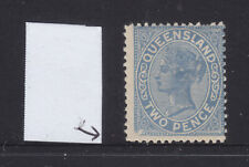 Qld: 1882 2Nd Sideface Qv 2d Blue Sg 188-9? With Variety Bottom Left Muh?