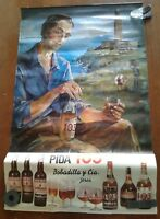 Vintage Liquor 1973 Advertising Print Poster Calendar PIDA 103 Brandy Man Cave