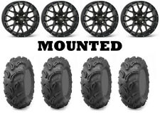 Kit 4 Maxxis Zilla Tires 27x10-14/27x12-14 on ITP Hurricane Matte Black IRS