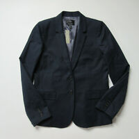 NWT J.Crew Tall Thompson Jacket in Navy Blue Two-Way Stretch Cotton Blazer 14T