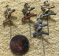 Lot of 4 Slinger Koek Gingerbread Holland Dutch VTG Stickpins Pin Pinback #35127