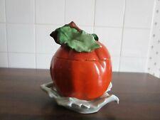 Ancien confiturier  tomate art déco  en biscuit