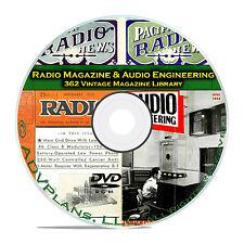 Radio Magazine & Audio Engineering, 362 Classic Old Time Radio OTR Mags DVD B81