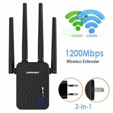 WiFi Range Extender 1200Mbps Mini WiFi Repeater 2.4GHz/5.8GHz Dual Band