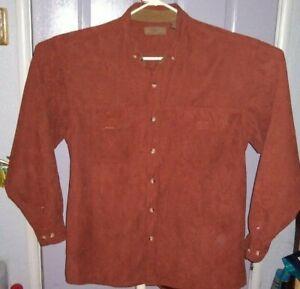Men's Morgan Creek Chamois  Faux Suede    Button up    Shirt    Large  EUC