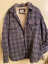 Levis Sherpa Lines Plaid Flannel Work Jacket Size XL 100% Cotton