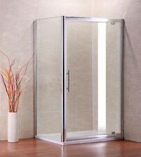 900x760mm Shower Enclosure Pivot Glass Cubicle Door Side Panel Stone Tray K1