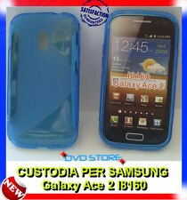Pellicola + Custodia cover case WAVE BLU per Samsung Galaxy Ace 2 I8160