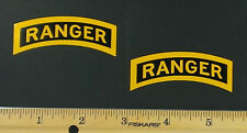 2 US Army Ranger Tab Stickers / Vinyl Decals